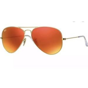 Ray-ban orange flash lens 58mm aviators